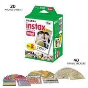 Fujifilm INSTAX Mini Instant Film (White) for Mini 8 & Mini 9 Cameras (20 Sheets)