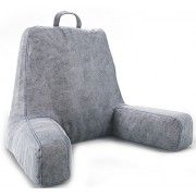 ZIRAKI Large Plush Shredded Foam Reading And TV Relax Pillow - Perfect for Adults, Teens, and Kids - For Bed Rest, Arm, Back, Pregnancy Lumbar & Head Neck Coccyx Lower Back Support Cushion