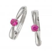 ピアリング14KWG ルビー シンプルテイスト【QVC】40代・50代レディースファッション