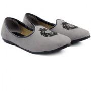 Bxxy Men's Grey Suede Faux Leather Jutti's Nagra's and Mojari's