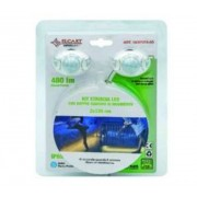 Elcart Kit Striscia Led Bianco Freddo Con Doppio Sensore Di Movimento 2,4 Metri