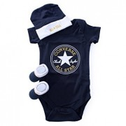 Converse - Set 3 piese All Star Infant Gift, 0-6 luni, Bleumarin
