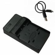 Ismartdigi Micro USB cargador de bateria de la camara movil para Olympus - Negro