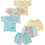 Jo kids wear Baby Boy Cotton Dress Set (Top and Shorts) Multi Color Set of 3 (1016)