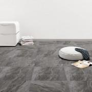 vidaXL Самозалепващи подови дъски от PVC, 5,11 м², черни с шарки