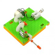 MagiDeal DIY Hand Crank Generator Assemble Model Kids Student Science Educational Toy