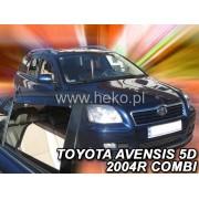 Deflektory komplet 4 ks pre TOYOTA Avensis - kombi, 2003-2009