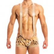 Modus Vivendi Tiger Singlet Bodysuit Sand 15881