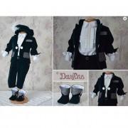 Costumas elegant pentru printisori, realizat din catifea