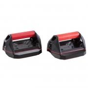 Domyos Poignées polyvalentes de cross training Push Up Wheels rouges et noires - Domyos