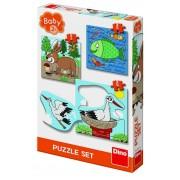 Baby Puzzle Dino Toys Unde locuiesc animalele, 2-4 ani