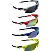 Zyaden Round Sunglasses(Blue, Yellow, Blue, Yellow)