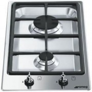 Smeg 30cm Gas Domino Hob, Stainless Steel - PGF32G