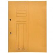 Dosar incopciat 1/2 cu capse, carton, 230 gr/mp, galben