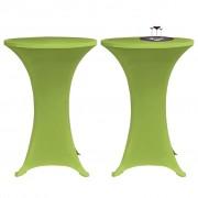 vidaXL Elastiskt bordsöverdrag 2 st 60 cm grön
