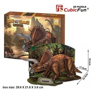 Cubic Fun Age Of Dinos 3 D Puzzle Triceratops, P669 H 41pcs