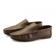 Retro Fashion ronde hoofd lichtgewicht en comfortabele Casual schoenen voor mannen (kleur: Khaki grootte: 40)