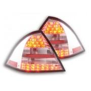 FK-Automotive LED Feux arrieres pour Mercedes-Benz Classe C type W203 Limo An 01-04, rouge/clair