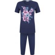 Pastunette Pyjama blauw met bloemen Pastunette