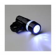 EH Nueva Negro Para Bicicleta 5 LED Power Beam Frente Cabeza Luz Antorcha Lámpara