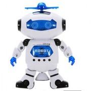 StyloHub White and Blue 360 Digital Dancing Robot