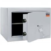 Wertschutzschrank Valberg H26, Möbeltresor mit Schlüsselschloss, grau ~ Variantenangebot