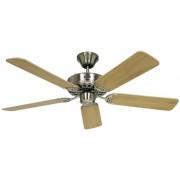 Ventilator de tavan (Ø) 103 cm, 3 trepte de viteza, 5 palete, culoare palete/carcasa: fag/crom (slefuit), Casa Fan Classic Royal 103 BN