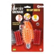 Geen Speelgoed handgranaat met plaffertjes met 96 schoten oranje 14 c
