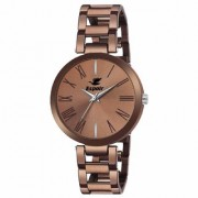 Espoir Analog Stainless Steel Brown Dial Girl's and Women's Watch - ManishaBrown