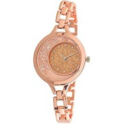iDIVAS ALK 21225 Rose gold moving diamond beads in dial watch With 1 year Warranty Watch - For Girls