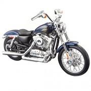 Maisto Harley Davidson 2012 XL 1200V Seventy Two Scale 1/18 - Color Blue
