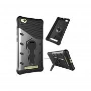 Xiaomi Redmi 4a Resistente A Los Golpes De Giro De 360 Grados Sniper Hybrid Case Tpu + Pc Combinación Caso Con El Titular (negro)