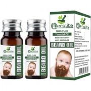 Meralite Natural Beard Oil Pack of 2 Hair Oil (70 ml) (ML-BABY BEARD OIL-35ml-PACK OF 2)