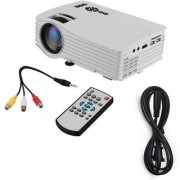 IBS Mini Projector Full Color 1080P USB/AV/HDMI Home Cinema Video Beamer 1000 lm LED Corded Portable Projector (White)
