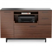 BDI Corridor Multifunction Cabinet Chocolate Stained Walnut