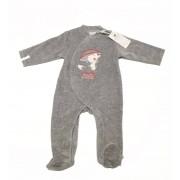 Noukies Pyjama velours gris Noukie's Capucine-9 mois