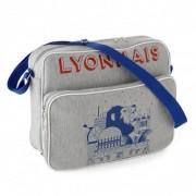 Olympique Lyonnais Besace Grise Gamme Lyonnais OL - Foot Lyon