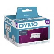 Dymo S0722560 Etikettrulle 89 x 41 mm Papper Vit 300 st Repositionerbart Namnskyltsetiketter