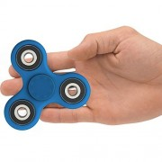 The Anti-Anxiety 360 Spinner Helps Focusing Fidget Toys [3D Figit] Premium Quality EDC Focus Toy for Kids & Adults - Best Stress Reducer Relieves ADHD & Boredom Ceramic Cube Bearing (Blue with Black)