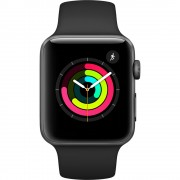 Apple Watch Series 3 - 42mm Space Gray Aluminium Case with Black Sport Band - MTF32 (MQL12)