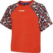 Tricou hummel Katrine - copii portocaliu-leopard 140