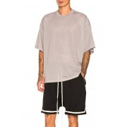 Fear of God Mesh Oversized Tee in Gray. - size M (also in L,S,XL)