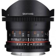 SAMYANG 12mm T3.1 VDSLR ED AS NCS Fisheye - Micro 4/3 - 2 Anni Di Garanzia