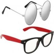 Fast Foh Wayfarer Sunglasses(Silver)