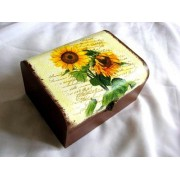 Cutie din lemn natural 27417