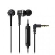 """Слушалки Audio-Technica ATH-CKR30iS, тип """"тапи"""", микрофон, бързи бутони, черни"""