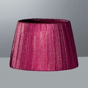 Large Organza Shade Bordeaux