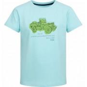 Endo T-shirt z krótkim rękawem dla chłopca, z samochodem, turkusowy, 9-13 lat