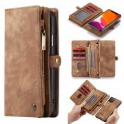 CASEME 008 Series Split Leather Wallet Detachable Phone Case for iPhone 11 Pro 5.8 inch (2019) - Brown