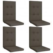 vidaXL Coussins de chaise de jardin 4 pcs Anthracite 120x50x5 cm